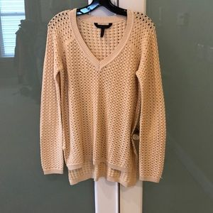BCBGMAXAZRIA butter yellow loose knit tunic
